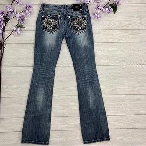 Miss Me Kaleidoscope Cross Bootcut Jeans